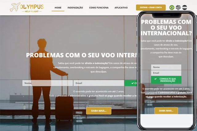 Criação de Sites para Olympus Help Flight