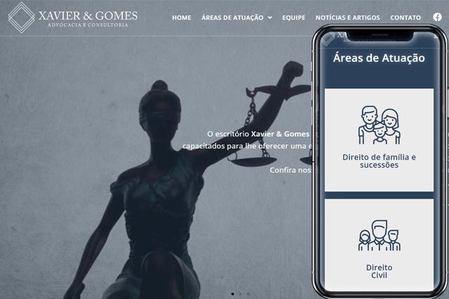Criação de Sites para Xavier e Gomes
