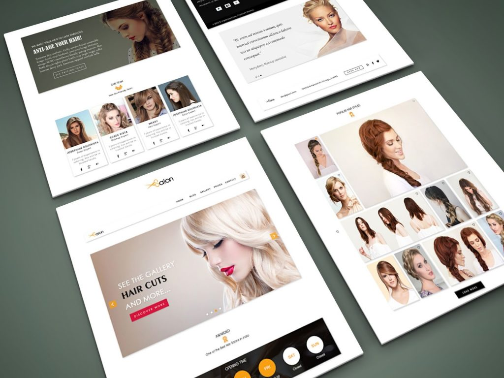 Sites para Salão de beleza criação em WordPress